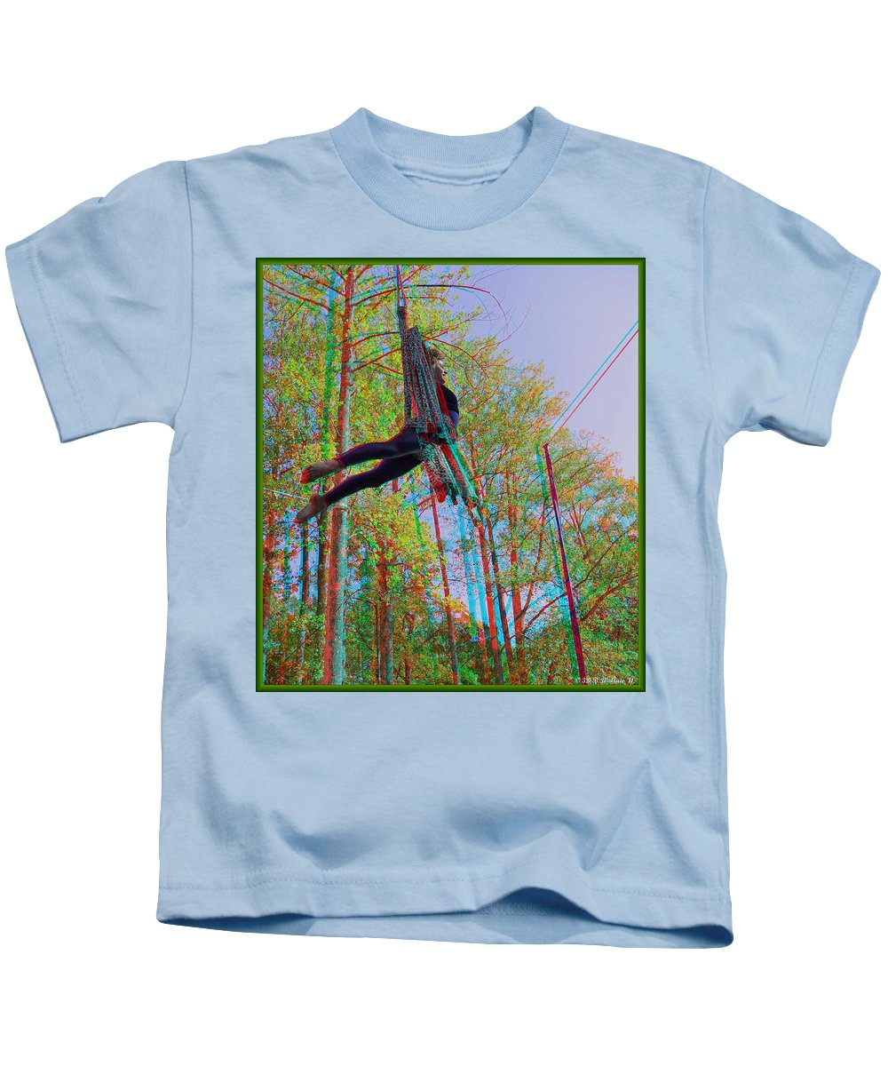 3d Kids T-Shirt featuring the photograph Aerial Artist - Use Red-cyan 3d Glasses by Brian Wallace