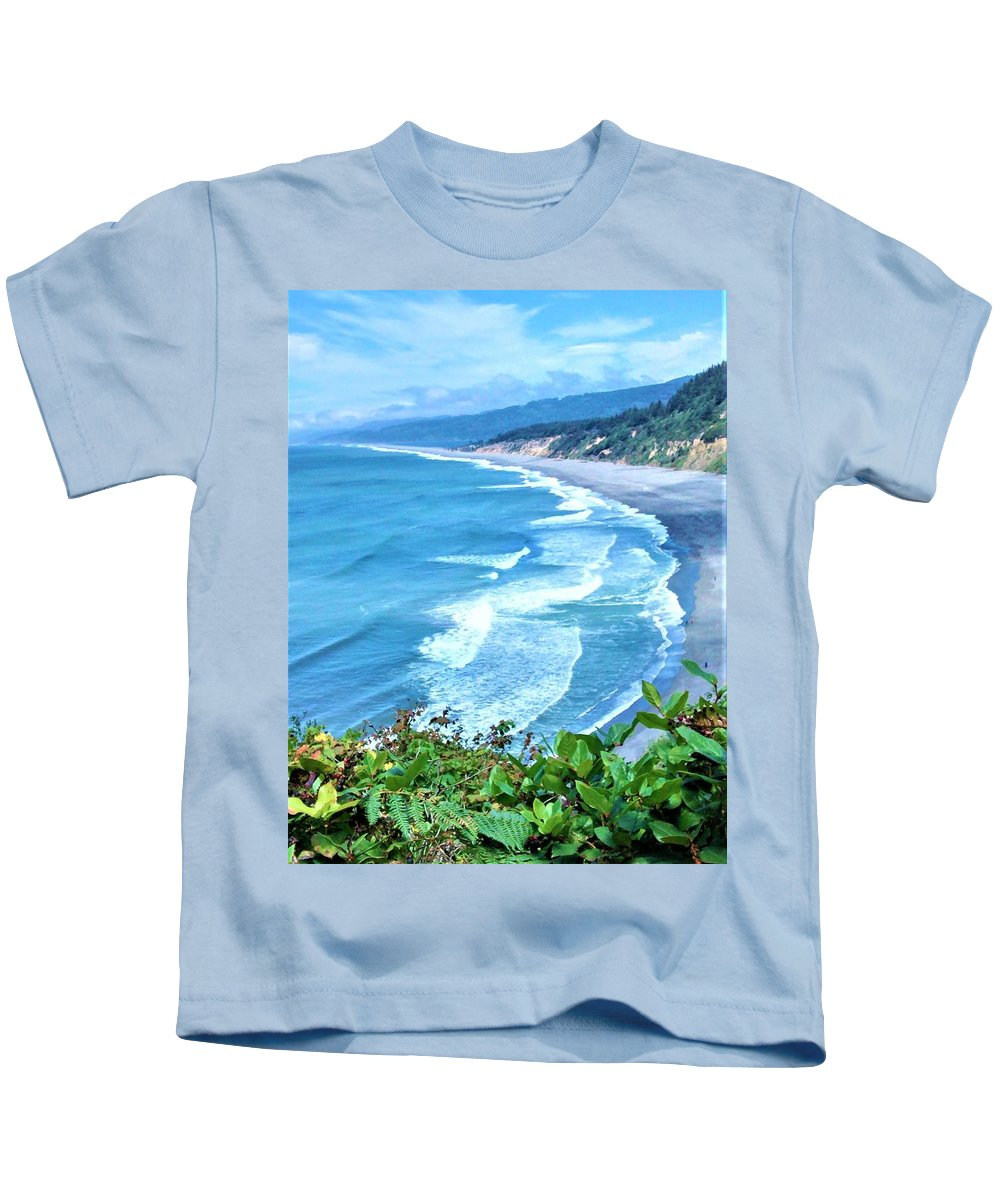 Agate Beach Kids T-Shirt featuring the photograph Agate Beach by Lisa Dunn