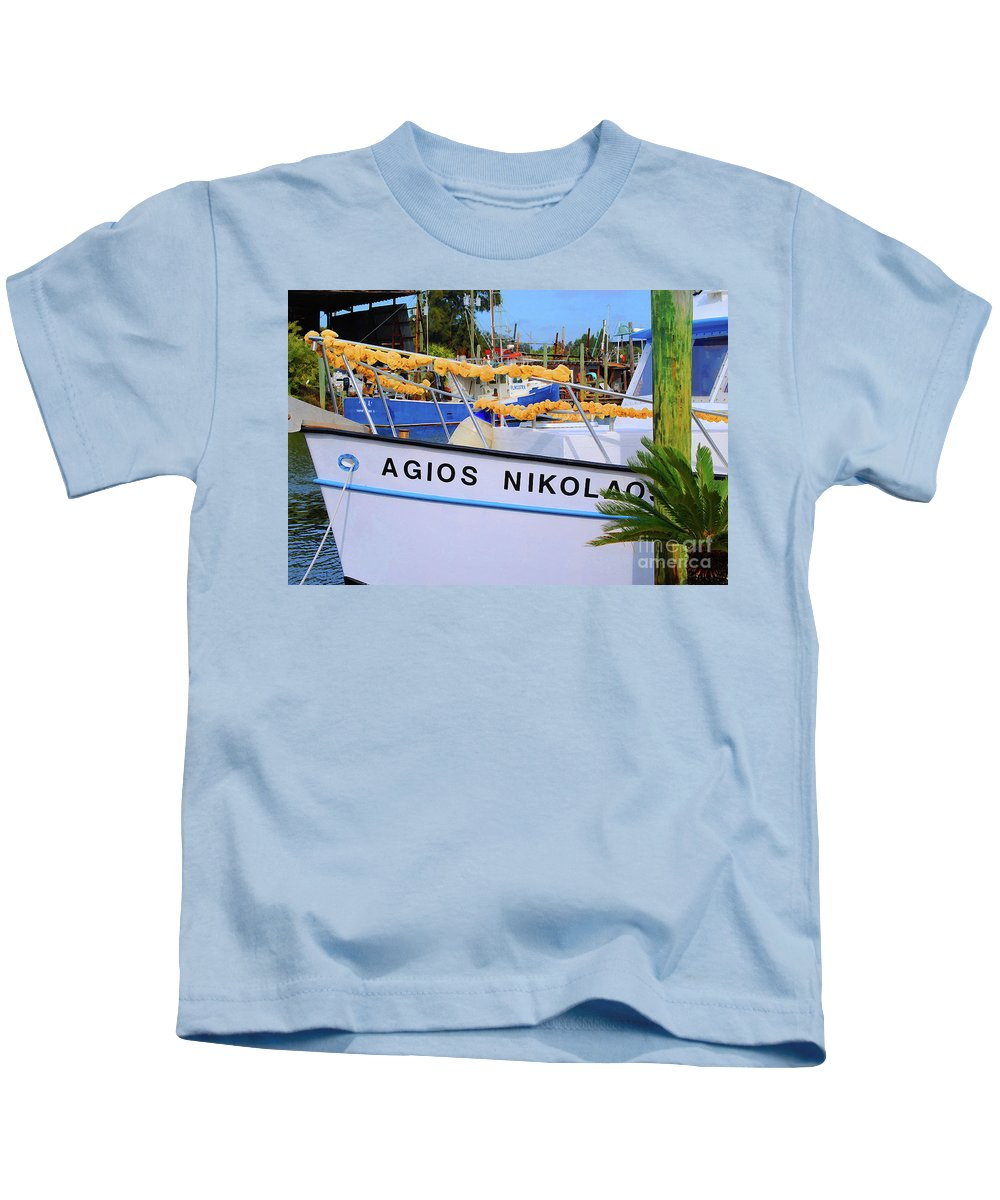 Agios Nicolaos Kids T-Shirt featuring the photograph Agios Nikolaos by Jost Houk