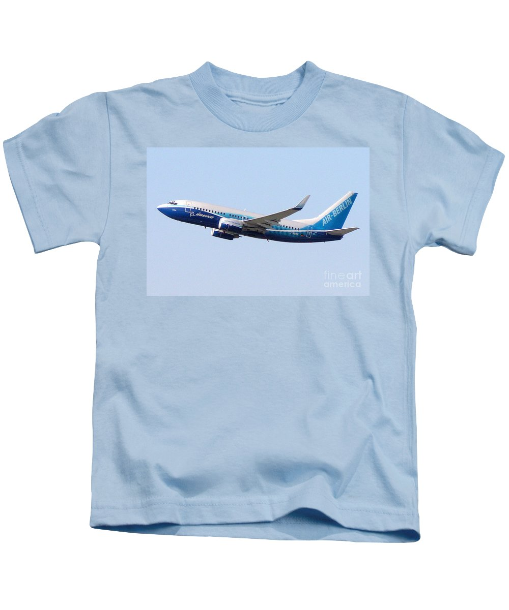 Air Kids T-Shirt featuring the photograph Air Berlin B737 700 Dreamliner D Abbn by R Muirhead Art