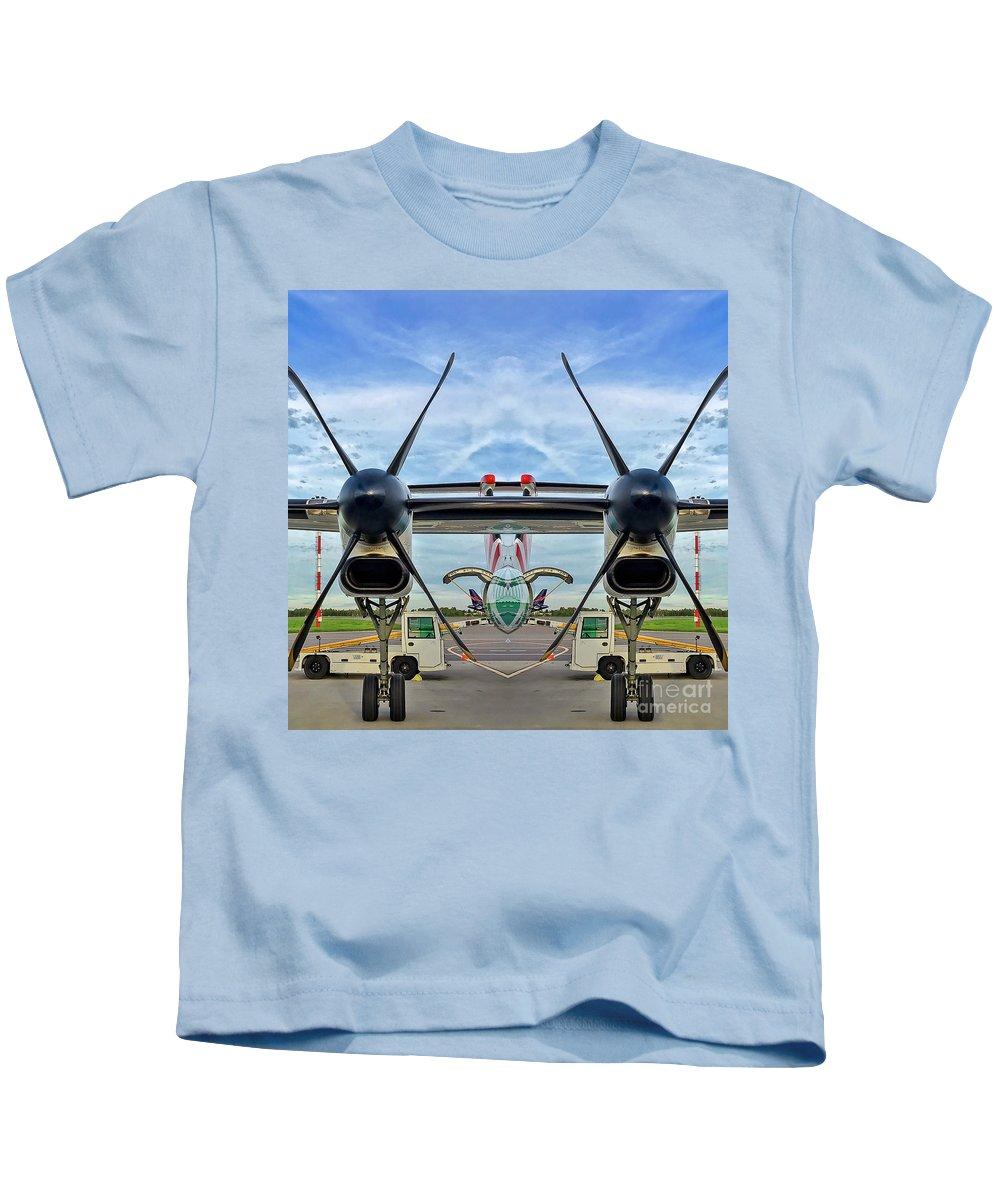 Aircraft Kids T-Shirt featuring the photograph Aircraft Abstract by Mariusz Sprawnik