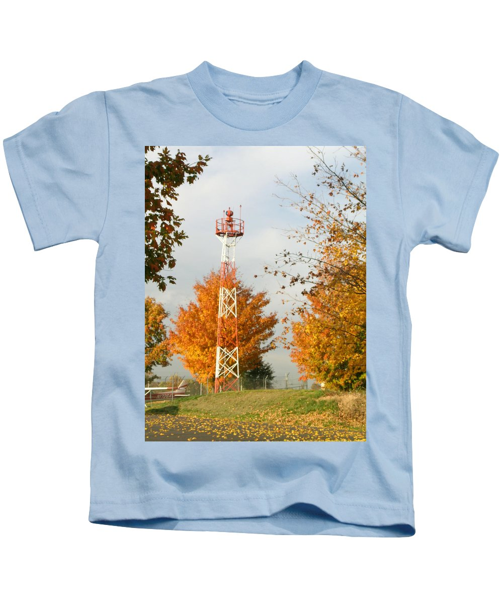 Airport Kids T-Shirt featuring the photograph Airport Tower by Douglas Barnett