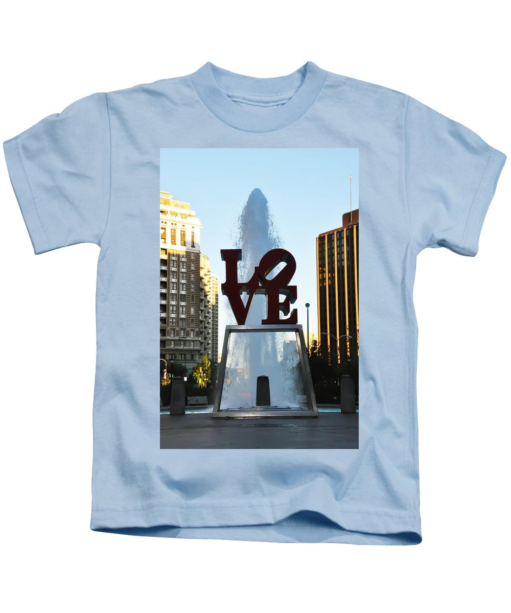 Love Park Kids T-Shirt featuring the photograph All You Need Is Love by Bill Cannon