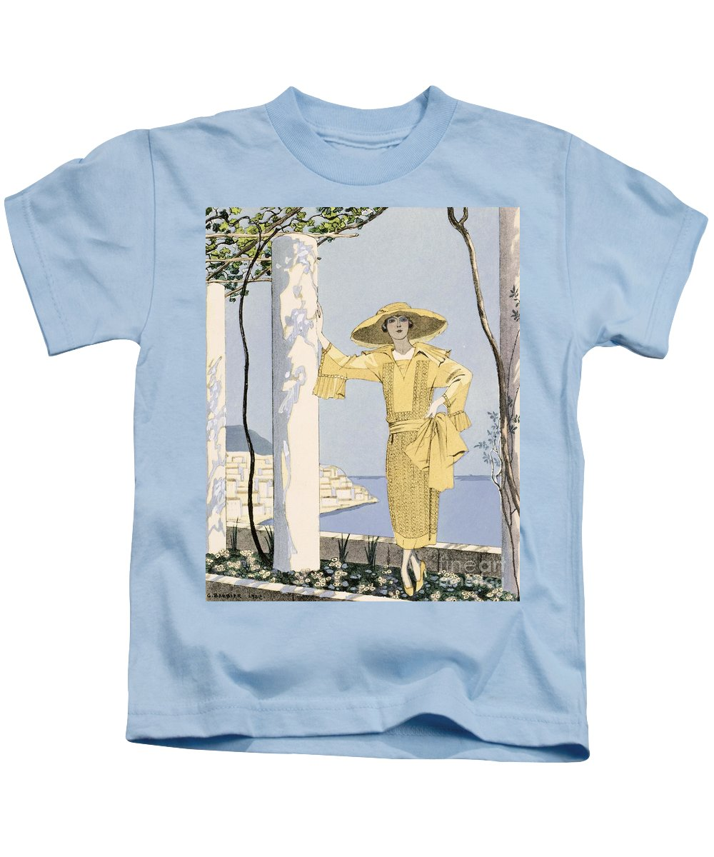 Kids T-Shirt featuring the painting Amalfi by Georges Barbier