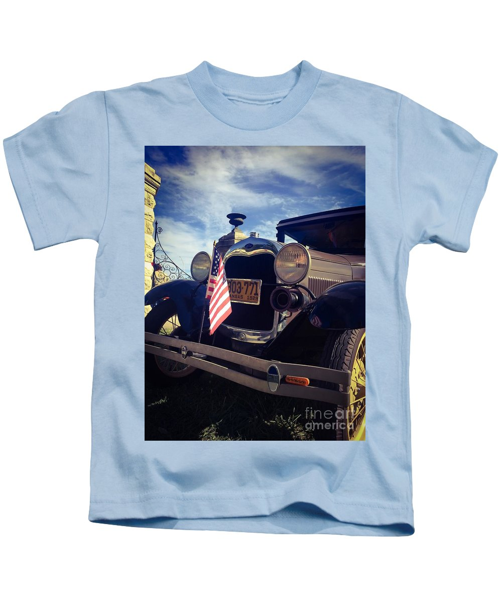 Ford Kids T-Shirt featuring the photograph American Classic by Michael Gailey