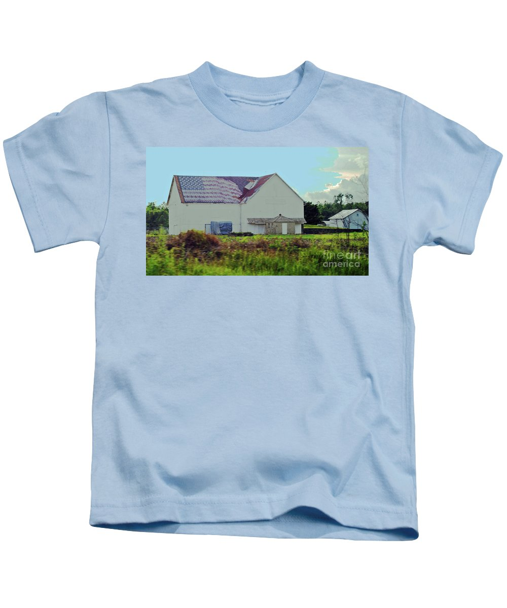 American Kids T-Shirt featuring the photograph American Farm by Jost Houk