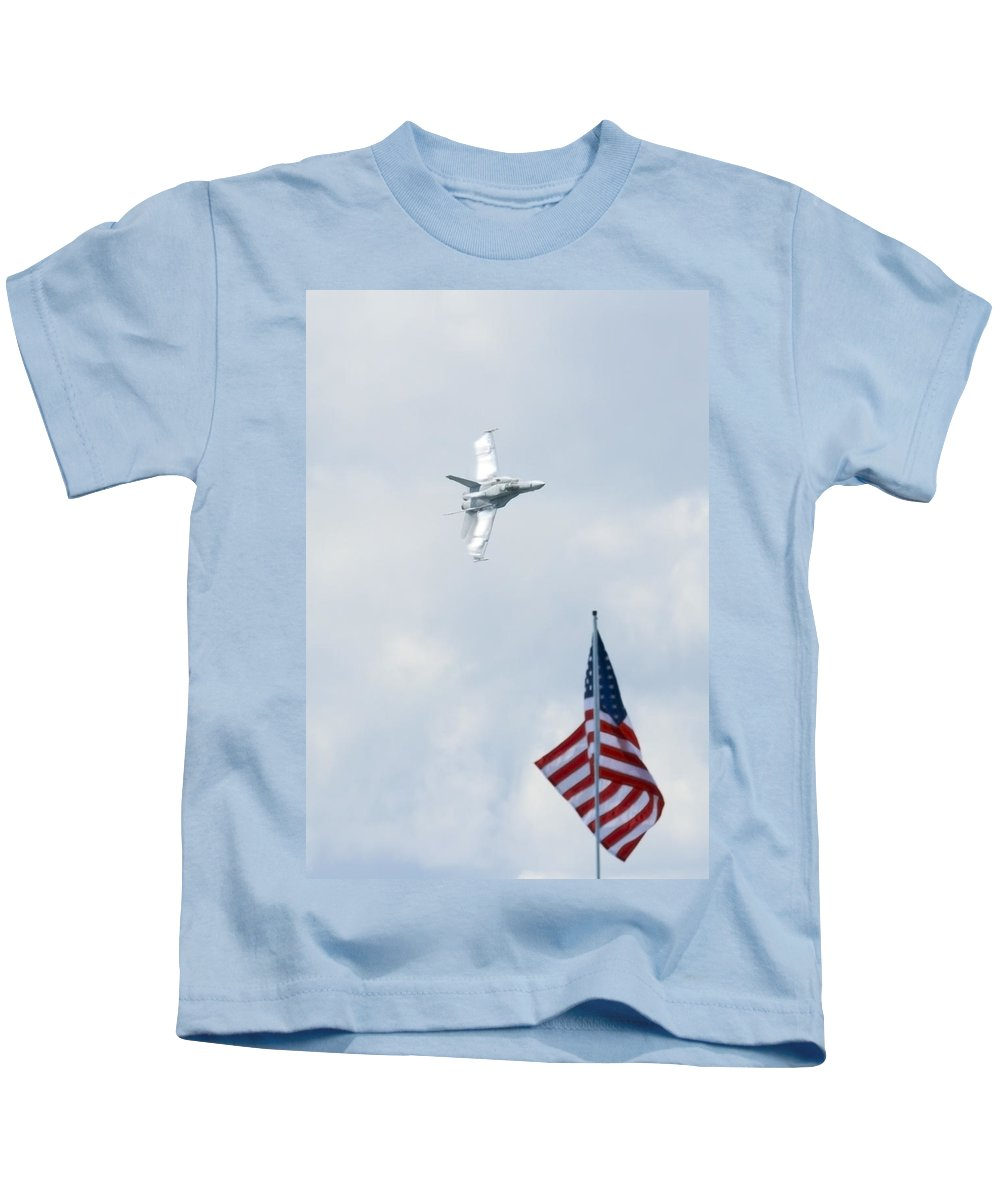 Us Kids T-Shirt featuring the photograph American Pride by Travis Rogers