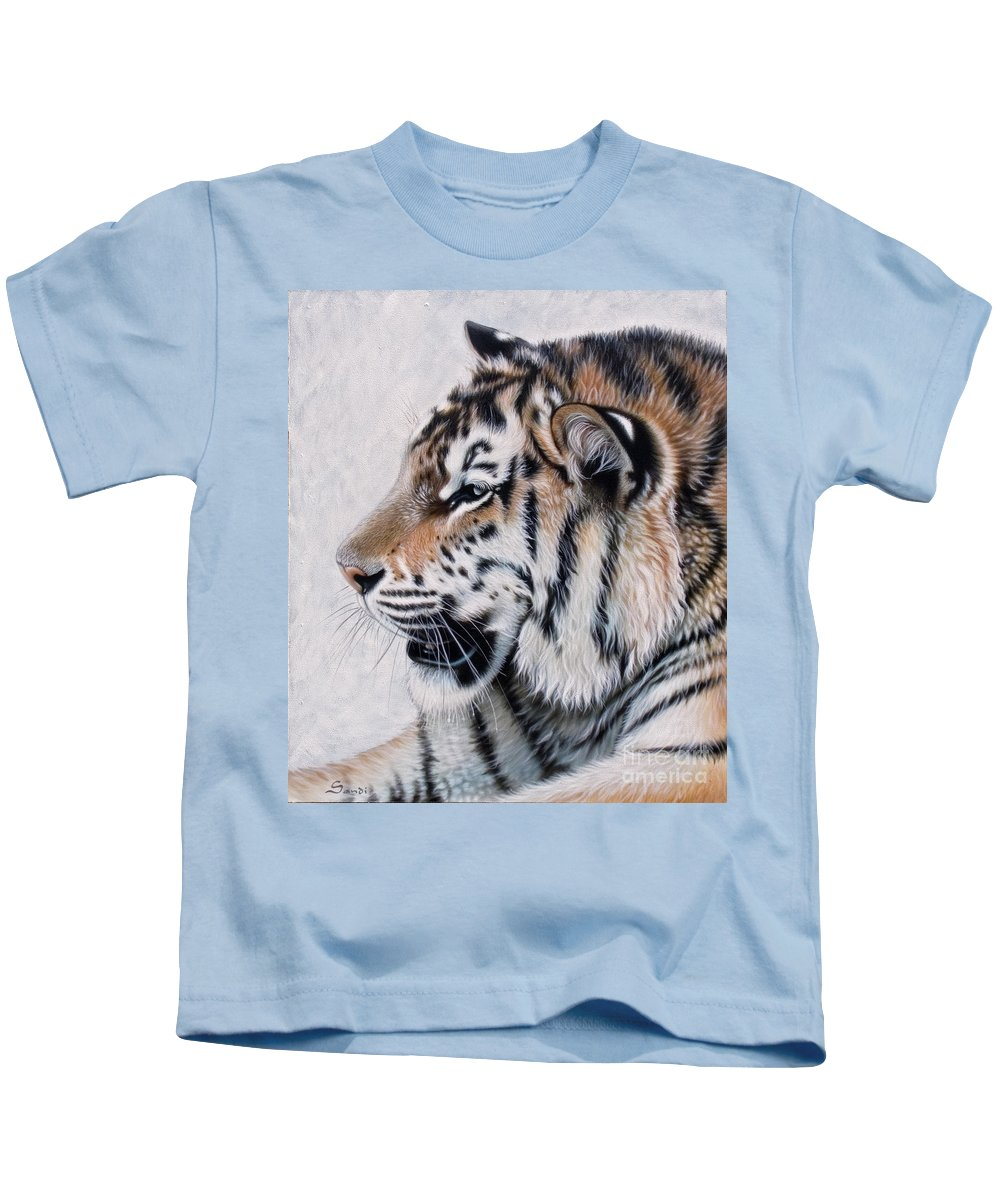 Acrylic Kids T-Shirt featuring the painting Amur by Sandi Baker