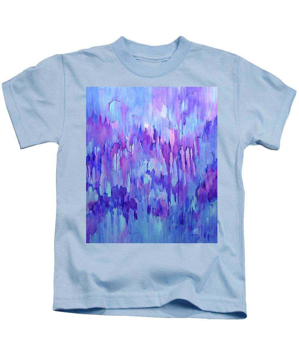Acrylic Kids T-Shirt featuring the painting Ancestors by Lynda Lehmann