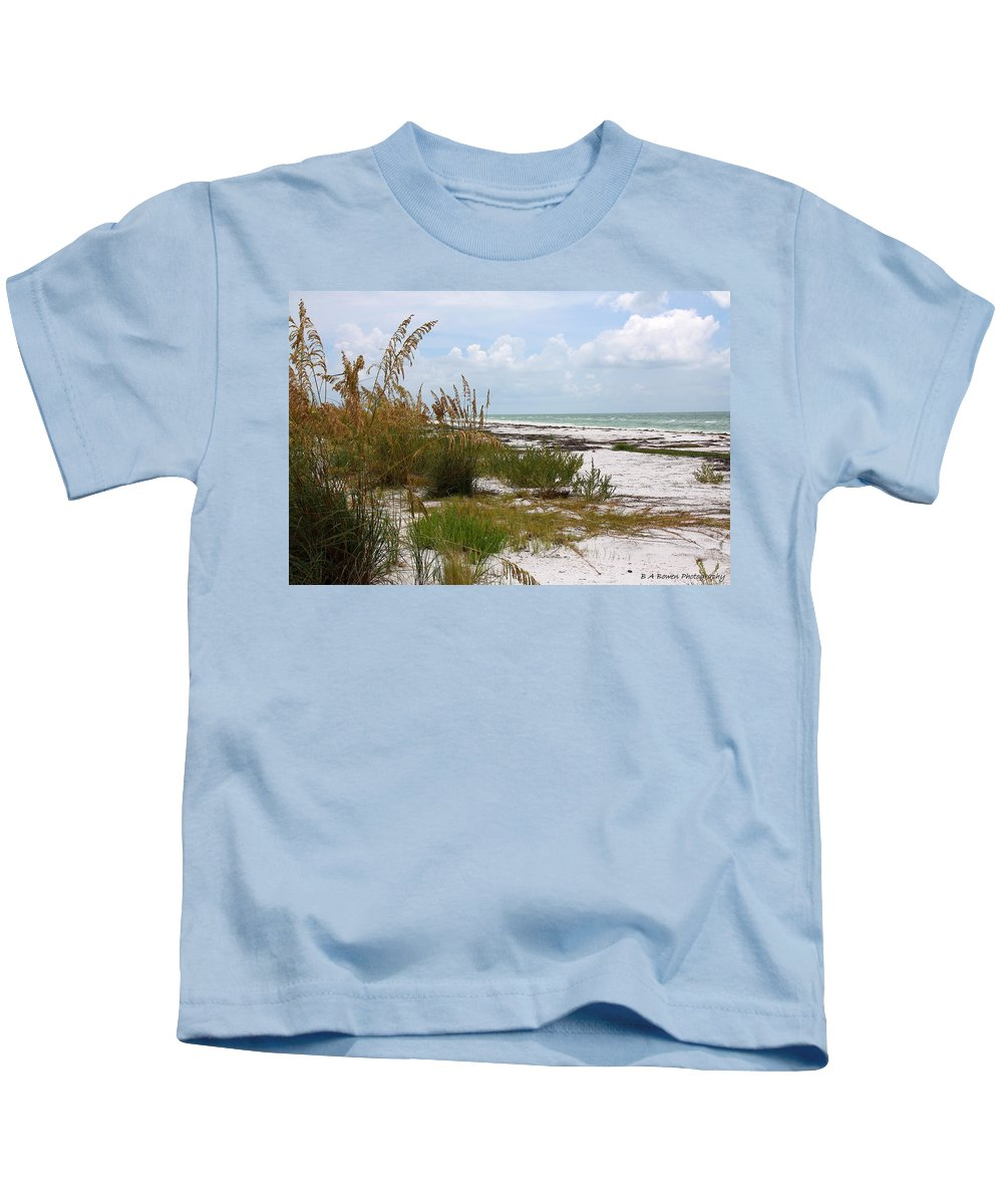 Beaches Kids T-Shirt featuring the photograph Anclote Key Preserve by Barbara Bowen