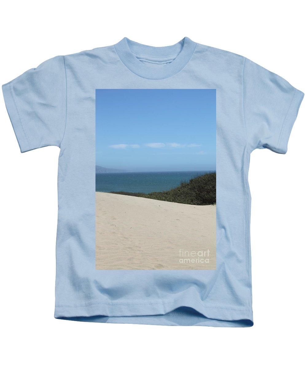 ano Nuevo Kids T-Shirt featuring the photograph Ano Neuvo by Amanda Barcon