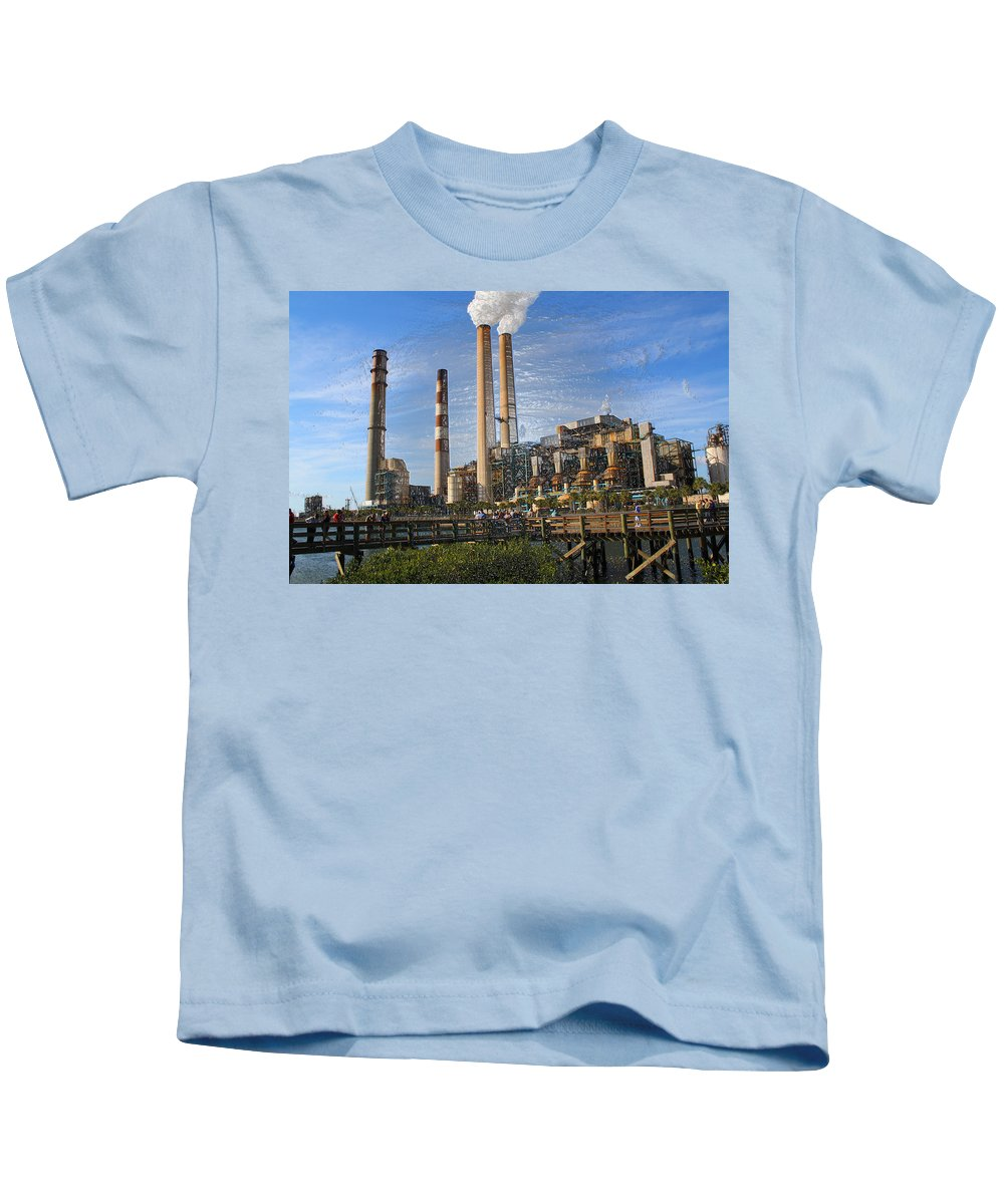 Factory Kids T-Shirt featuring the photograph Anomaly by Deborah Napelitano