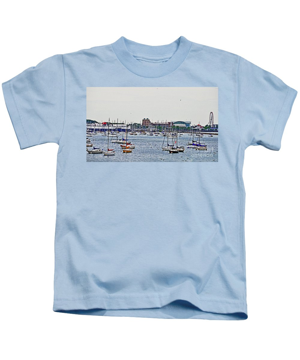 Boats Kids T-Shirt featuring the photograph Another Harbor View by Lydia Holly