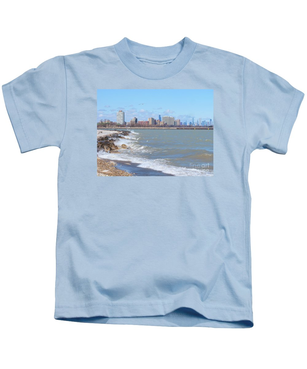 Chicago Kids T-Shirt featuring the photograph Approaching Chicago by Ann Horn