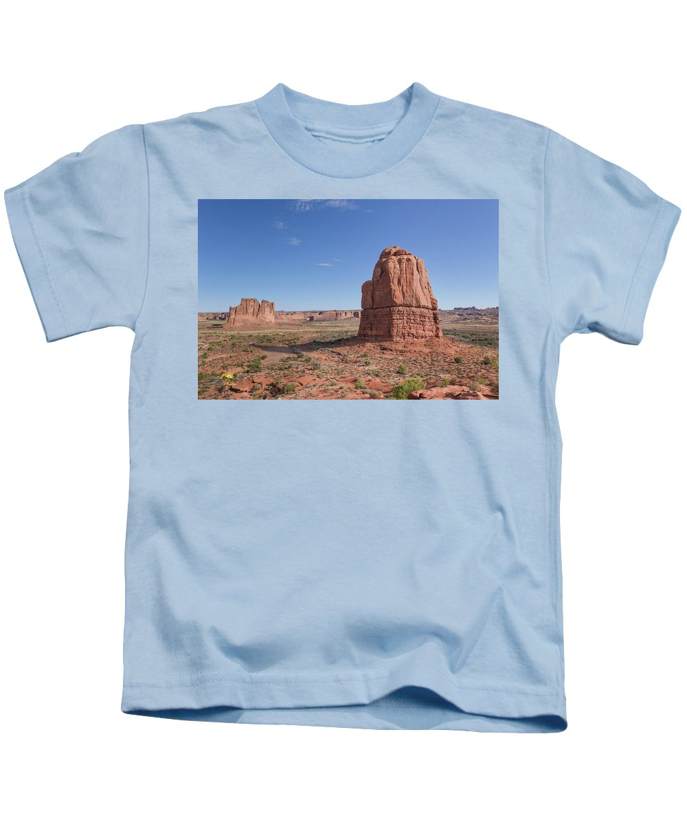Arches National Park Kids T-Shirt featuring the photograph Arches National Park by Jim Thompson