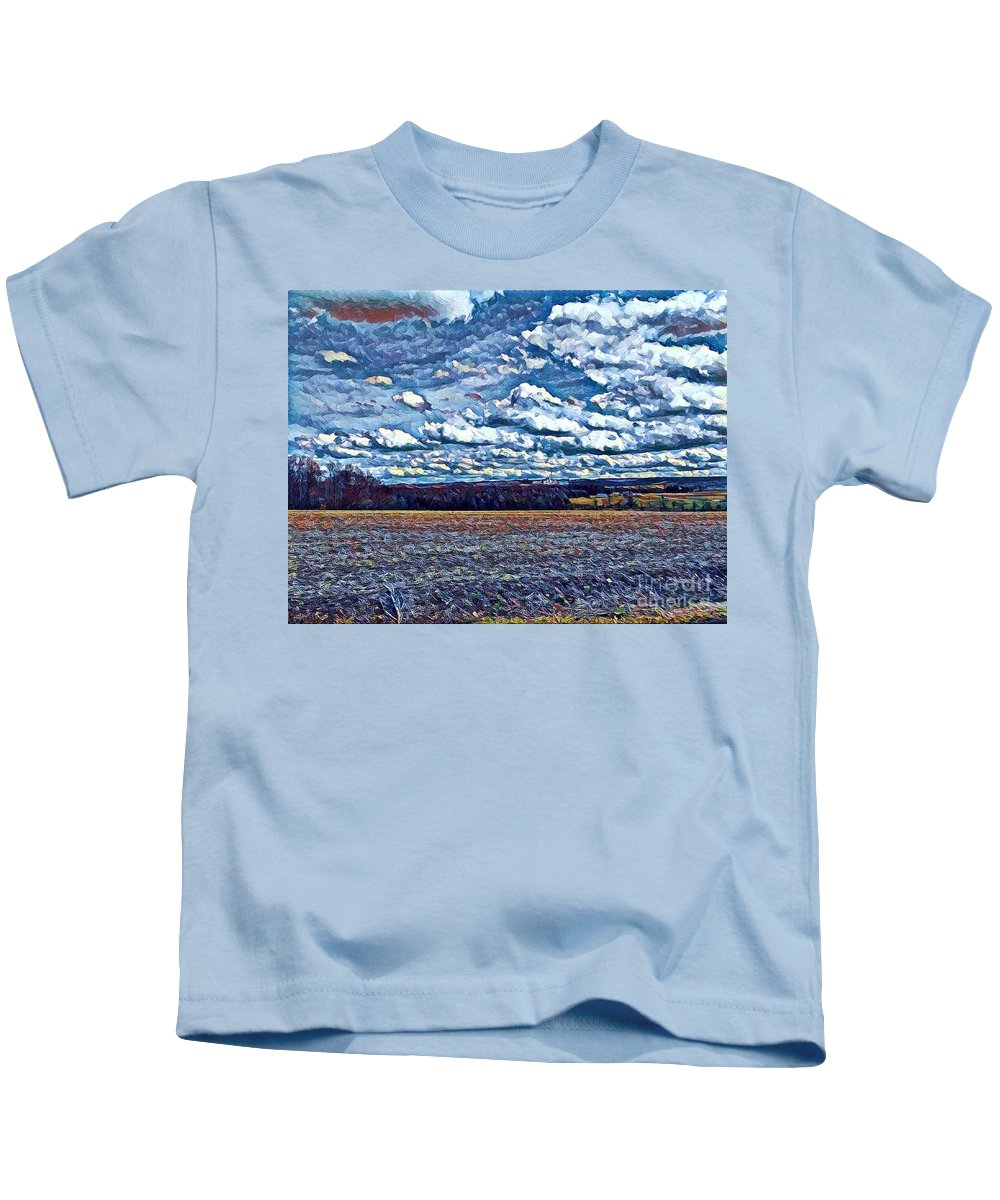 Beautiful Kids T-Shirt featuring the digital art Archies Farm by Jeffrey Koss