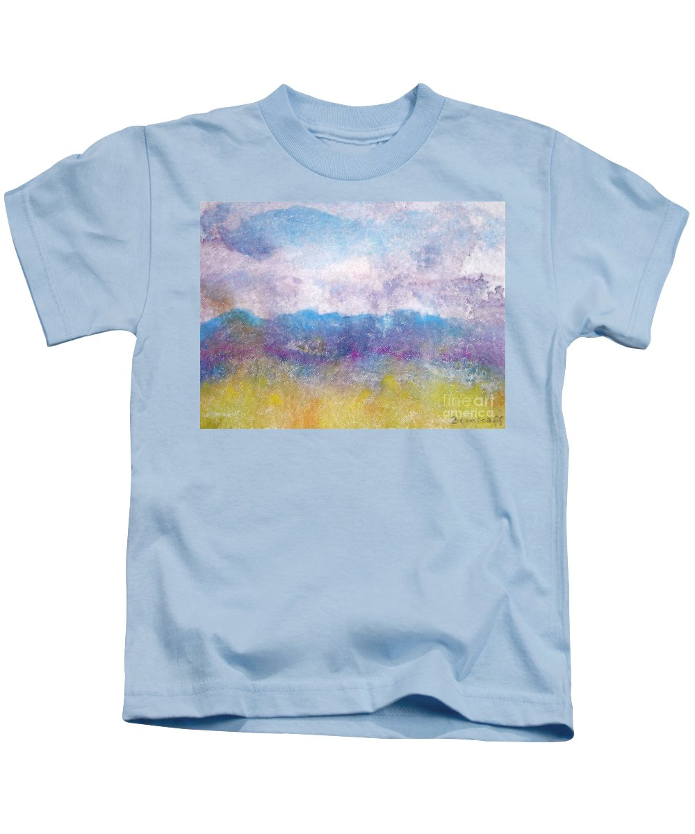 Abstract Kids T-Shirt featuring the painting Arizona Impressions by Jan Bennicoff