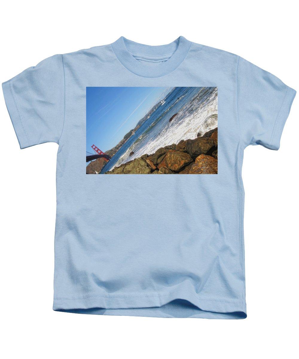 Golden Gate Bridge Kids T-Shirt featuring the photograph Around The Golden Gate by Donna Blackhall