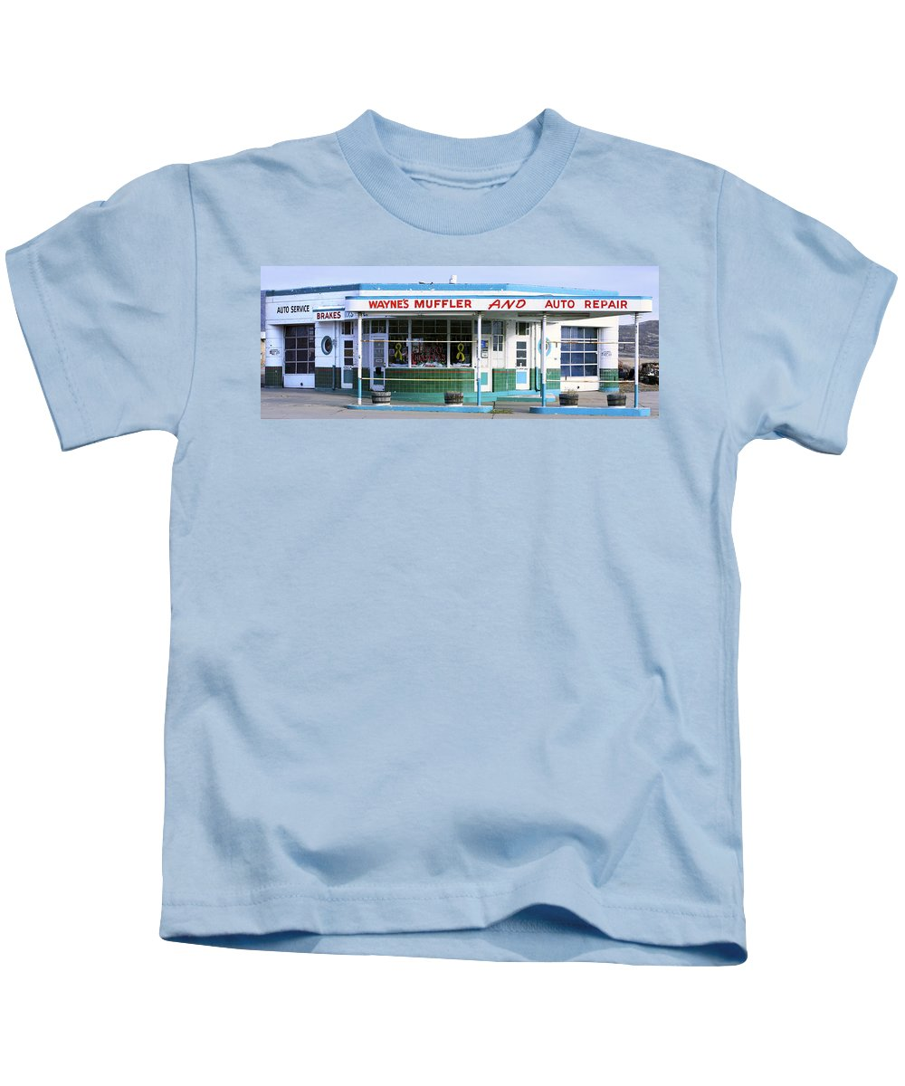 Americana Kids T-Shirt featuring the photograph Art Deco Filling Station 1 by Marilyn Hunt