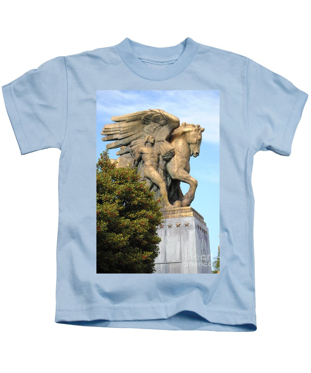 Washington Kids T-Shirt featuring the photograph Art Of Peace Pegasus by Jost Houk
