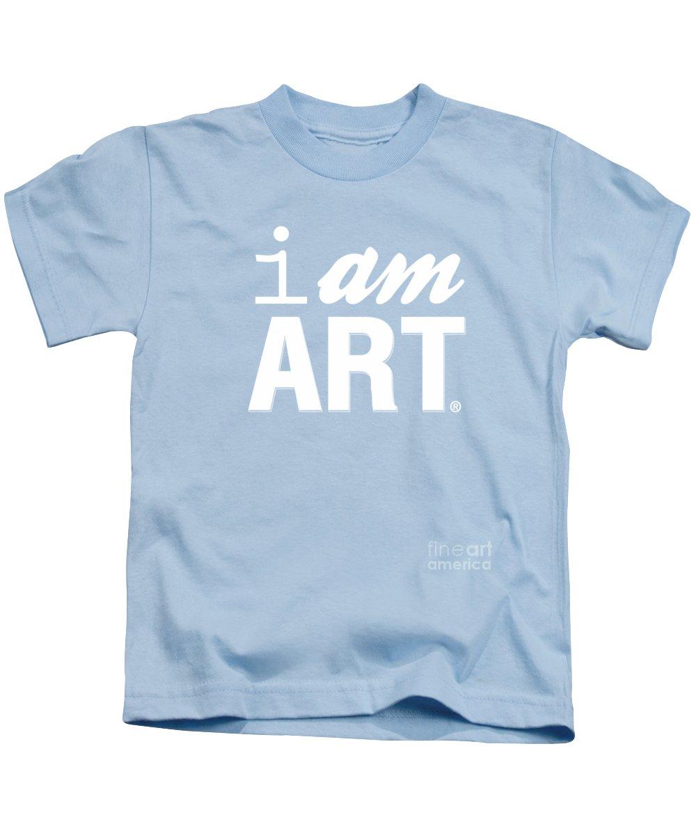 Art Kids T-Shirt featuring the digital art I AM ART- Shirt by Linda Woods