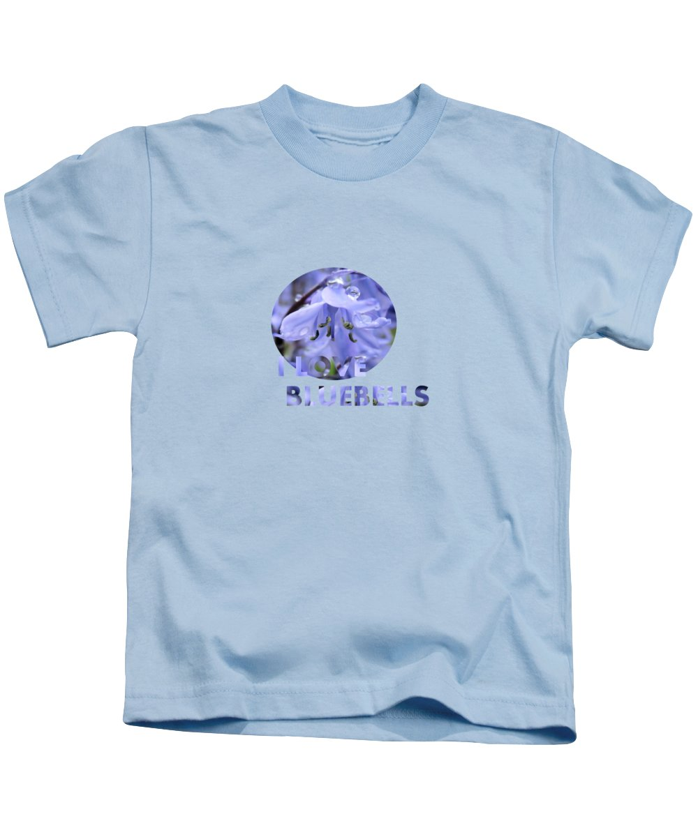 Bluebells Kids T-Shirt featuring the photograph Bluebell Glade by Valerie Anne Kelly