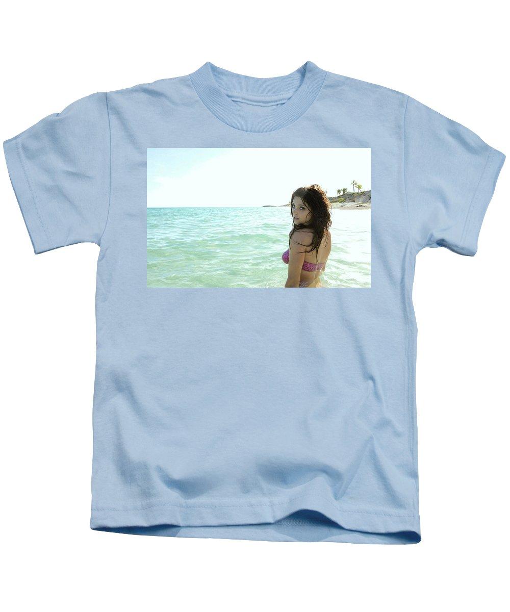 Ashley Greene Kids T-Shirt featuring the digital art Ashley Greene by Dorothy Binder