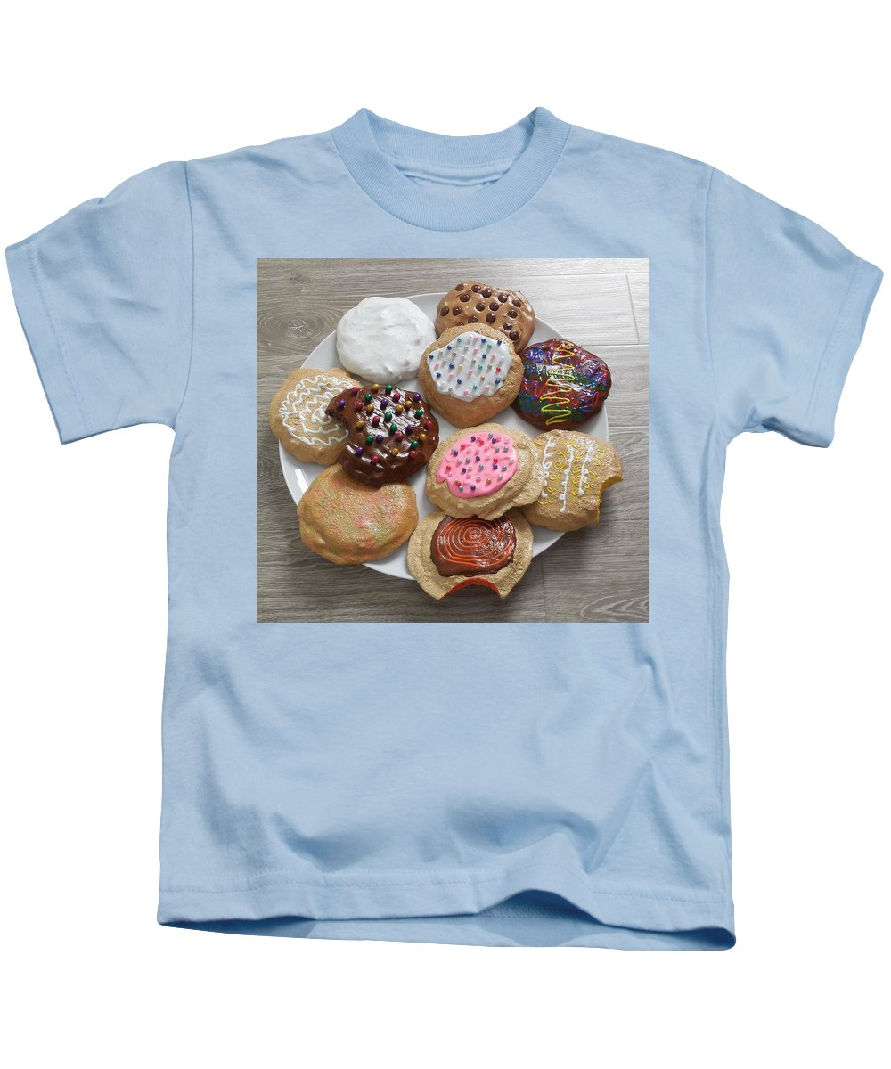 Mixed Media Sculpture Three Dimensional Kids T-Shirt featuring the mixed media Assorted Cookies by Stanford Slutsky