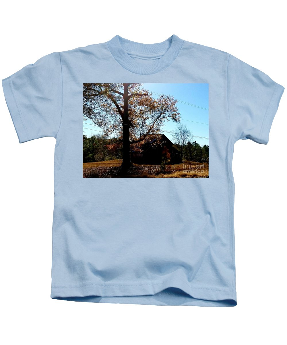 Autumn Gold Kids T-Shirt featuring the photograph Autumn Gold by Maria Urso