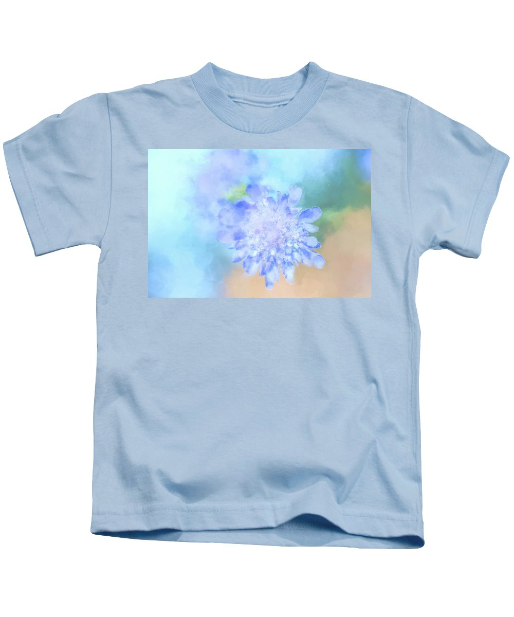 Pink Kids T-Shirt featuring the digital art Baby's Breath by Terry Davis