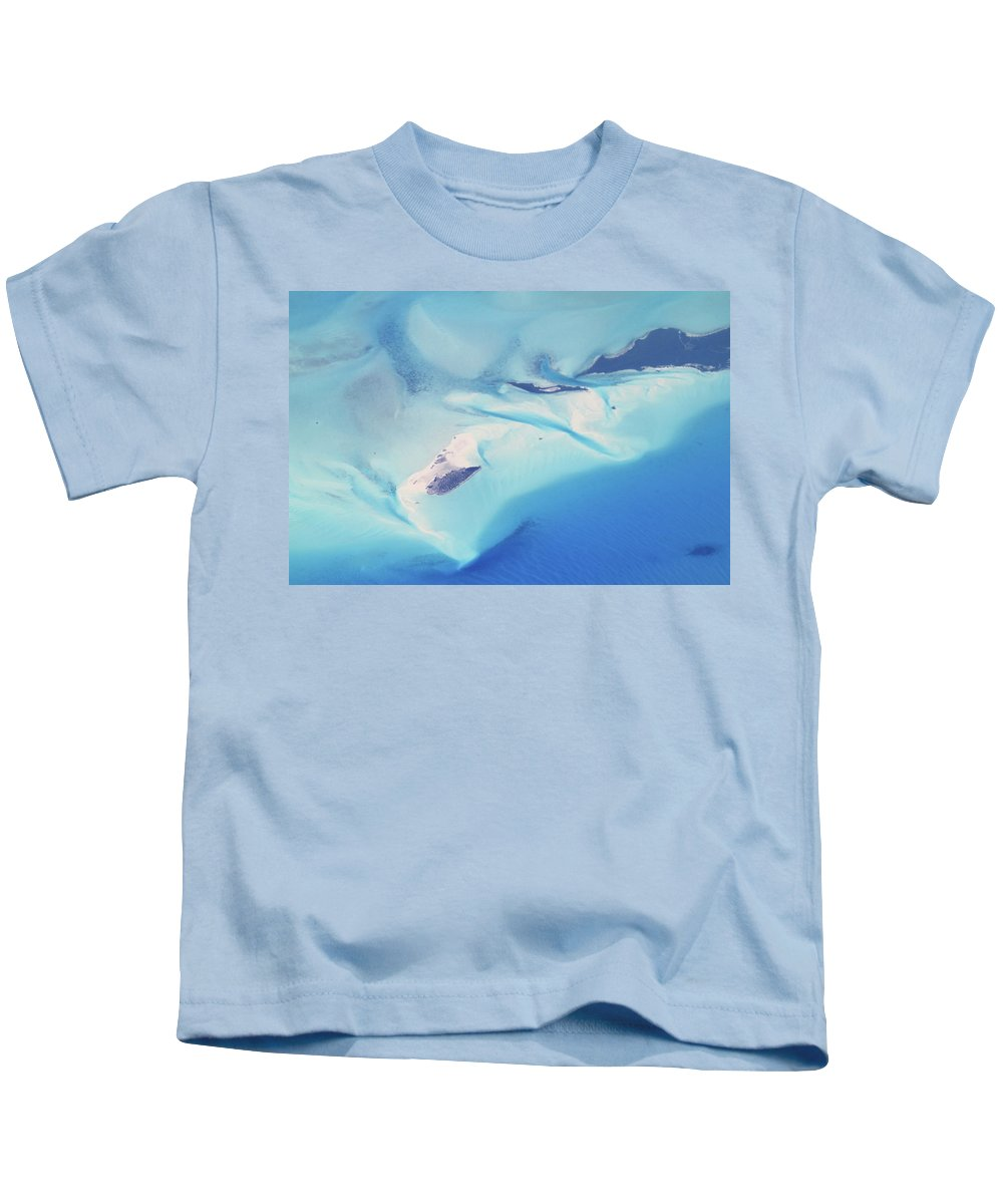 Bahamas Kids T-Shirt featuring the photograph Bahama Banks Aerial Seascape by Roupen Baker