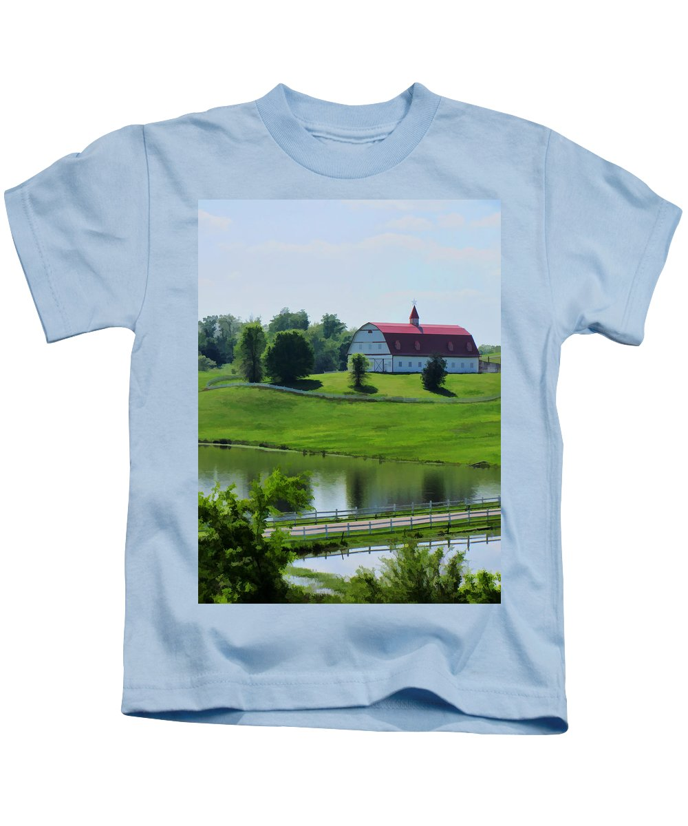 Gorgeous Kids T-Shirt featuring the photograph Barn Beautiful In Alabama by Kathy Clark