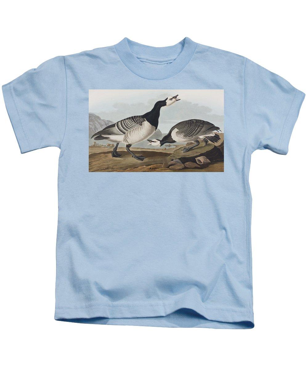 Barnacle Goose Kids T-Shirt featuring the painting Barnacle Goose by John James Audubon