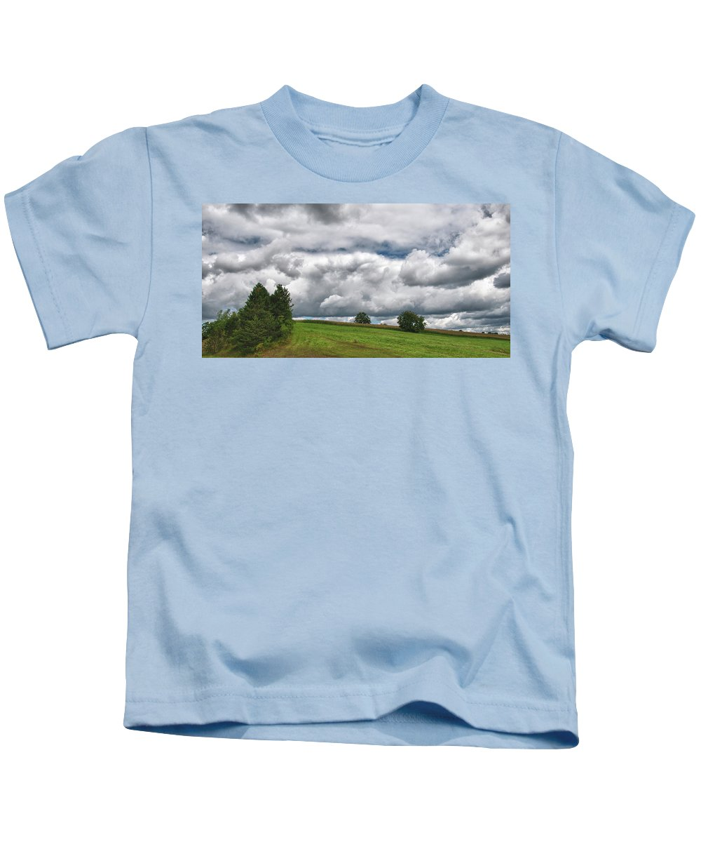 Landscape Kids T-Shirt featuring the photograph Barre Clouds 2181 by Guy Whiteley