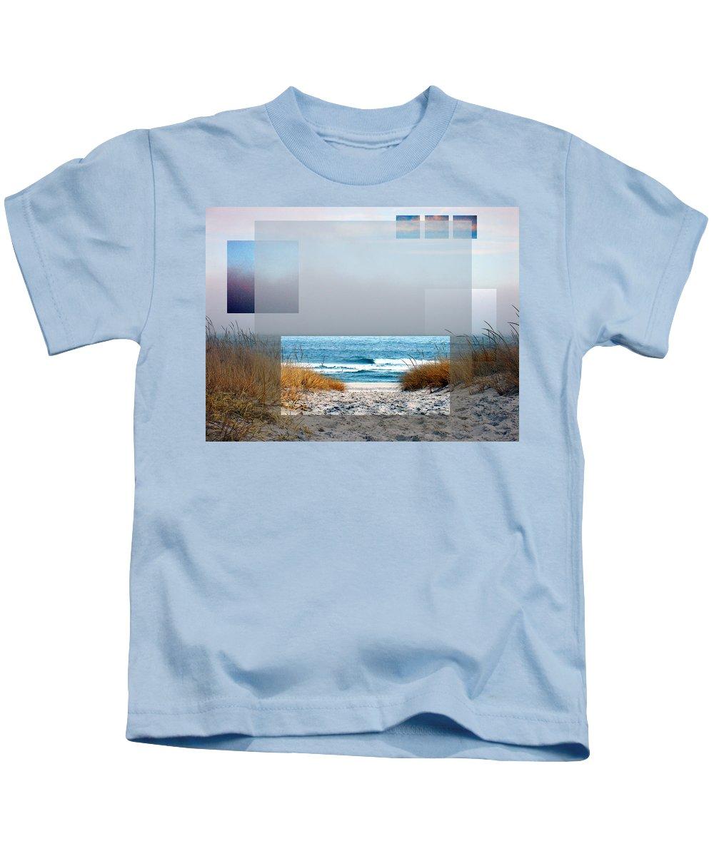 Beach Kids T-Shirt featuring the photograph Beach Collage by Steve Karol