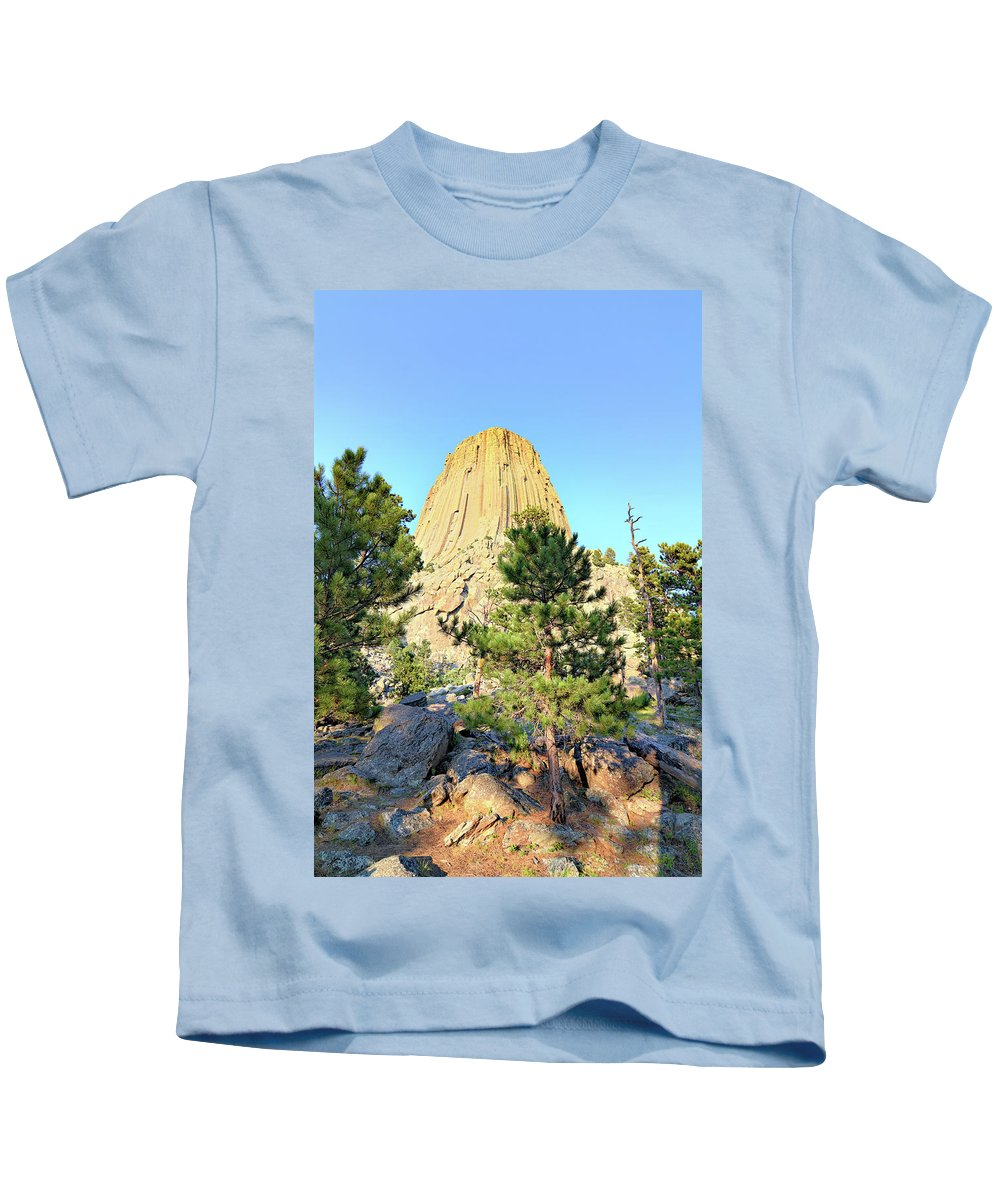 Tower Kids T-Shirt featuring the photograph Bear Mountain by Bonfire Photography