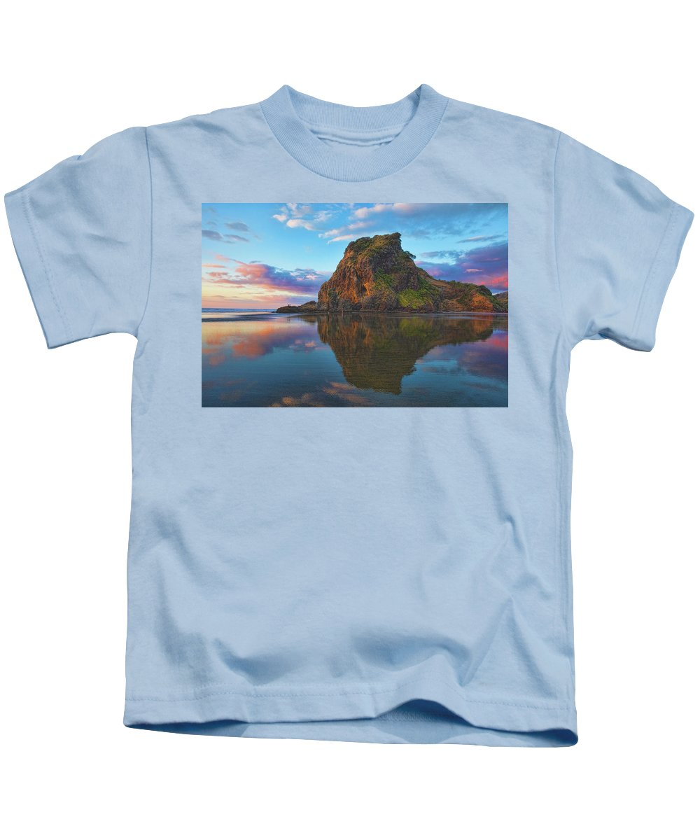 Lion's Rock Kids T-Shirt featuring the photograph Beautiful Lion by Photopoint Art