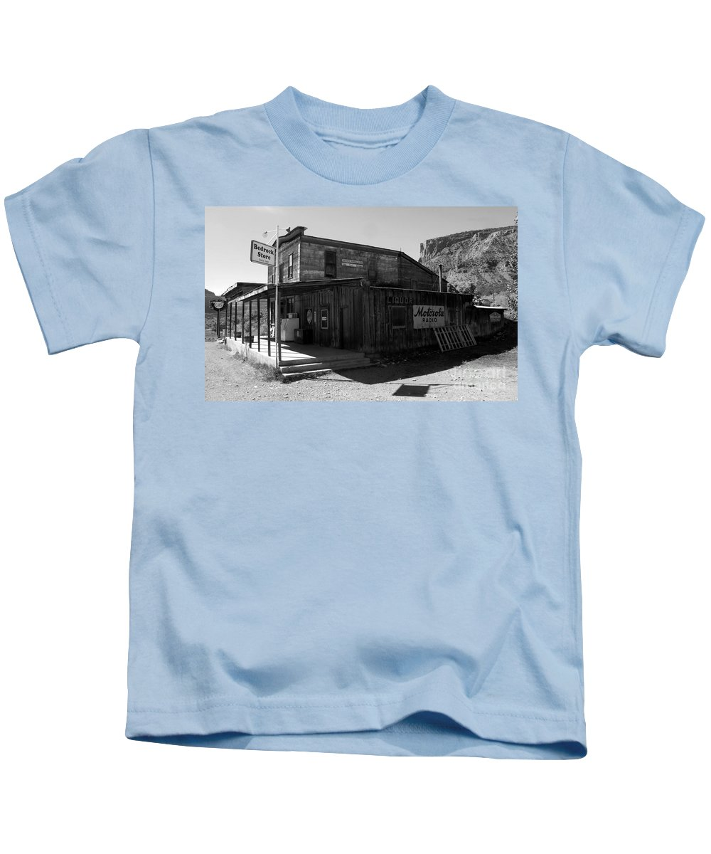 Bedrock Colorado Kids T-Shirt featuring the photograph Bedrock Store 1881 by David Lee Thompson