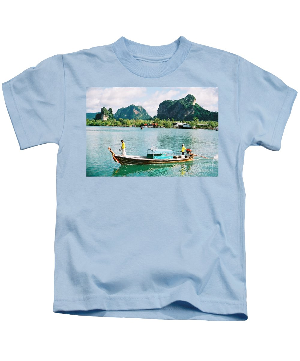 Boats Kids T-Shirt featuring the photograph Before The Tsunami by Mary Rogers