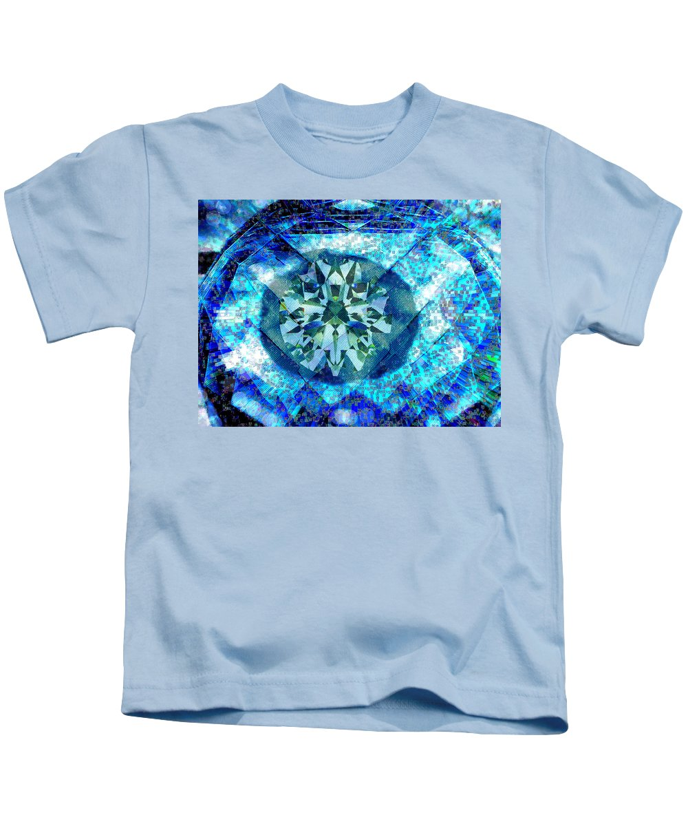 Abstract Kids T-Shirt featuring the digital art Behold The Jeweled Eye by Seth Weaver