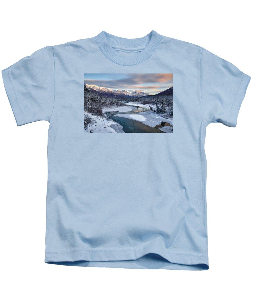 Alaska Kids T-Shirt featuring the photograph Bellevue by Ed Boudreau