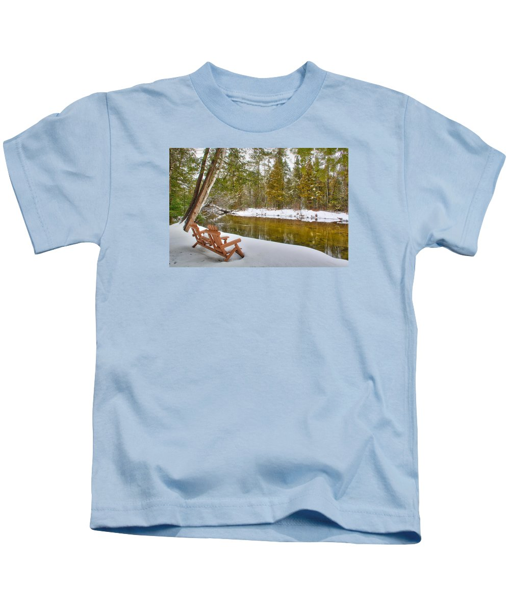 Bench Kids T-Shirt featuring the photograph Bench Of Solitude by Rick Jackson