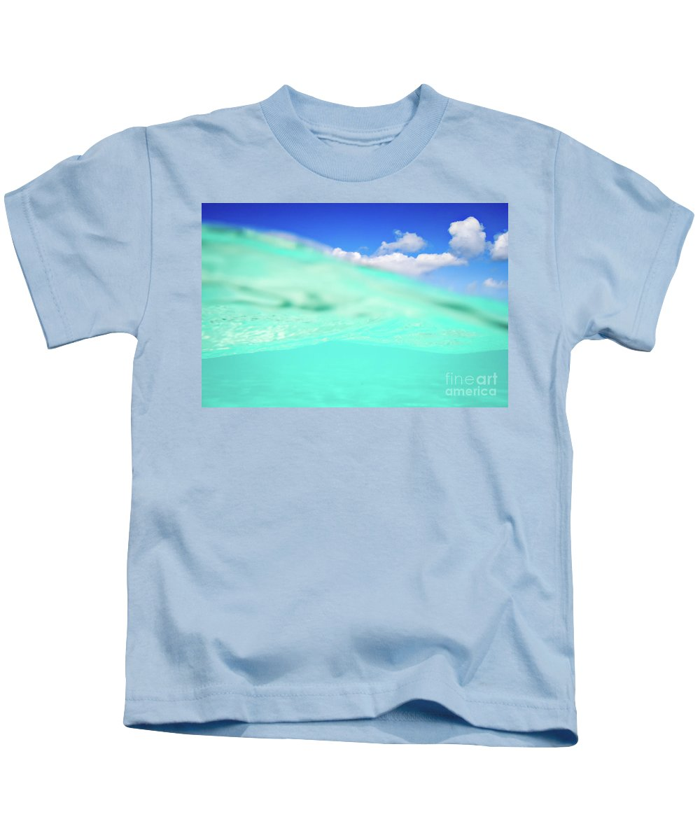 Underwater Kids T-Shirt featuring the photograph Best Of Both Worlds by Doug Sturgess