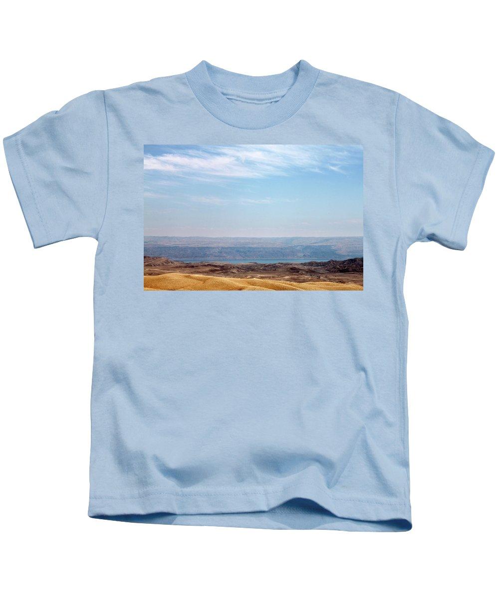 Bethlehem Kids T-Shirt featuring the photograph Bethlehem Desert by Munir Alawi