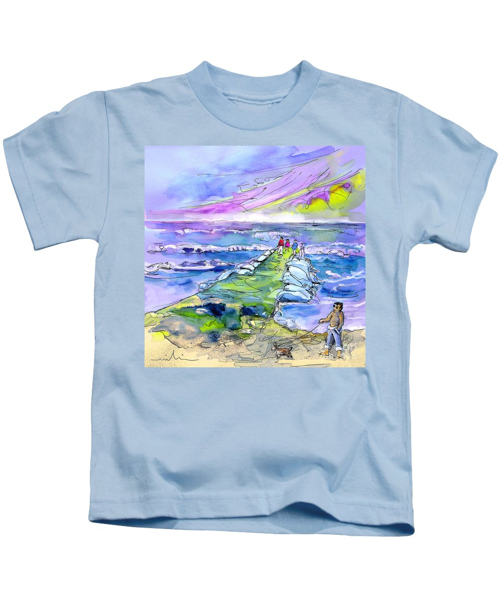 Biarritz Kids T-Shirt featuring the painting Biarritz 20 by Miki De Goodaboom