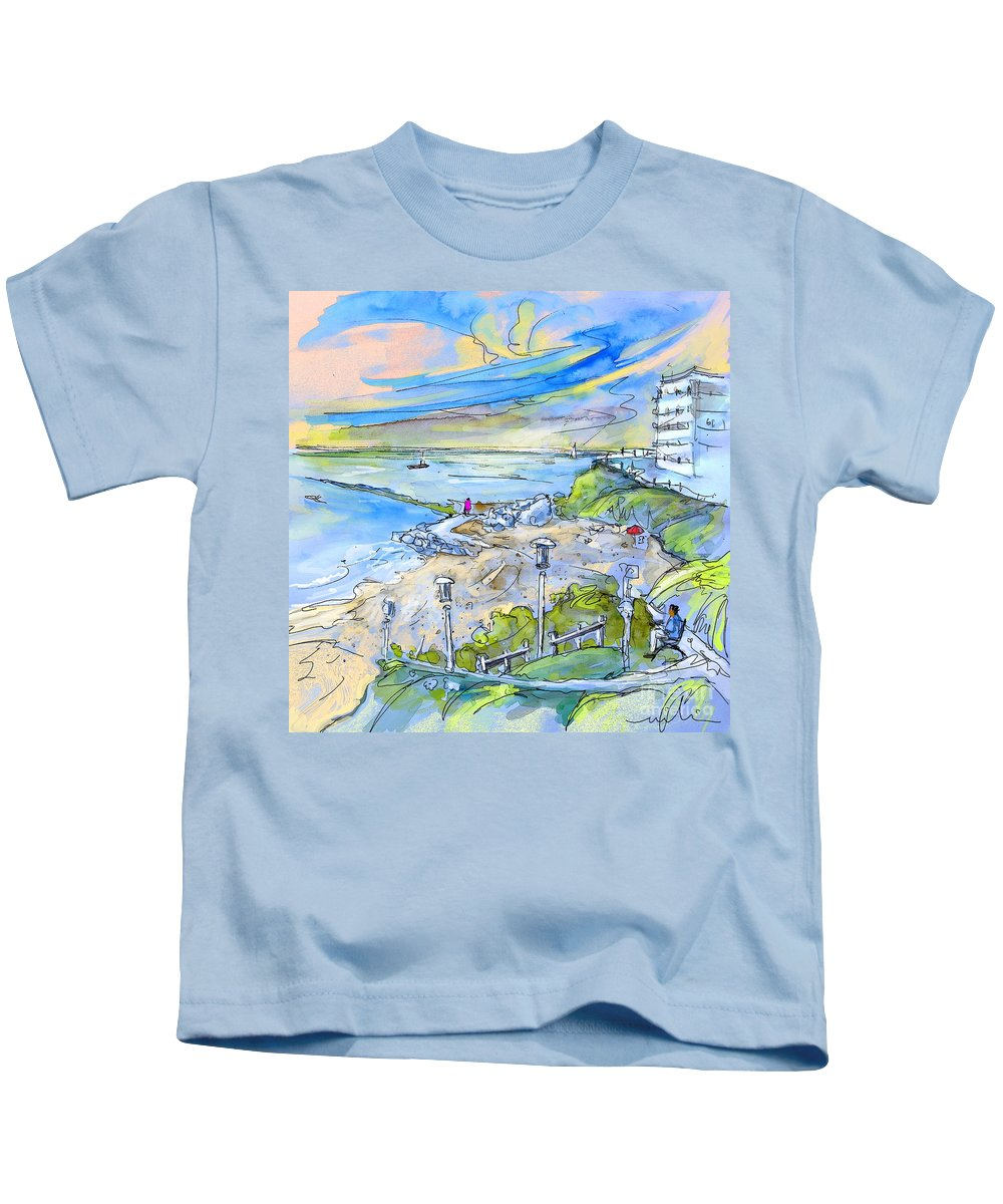 Biarritz Kids T-Shirt featuring the painting Biarritz 26 by Miki De Goodaboom