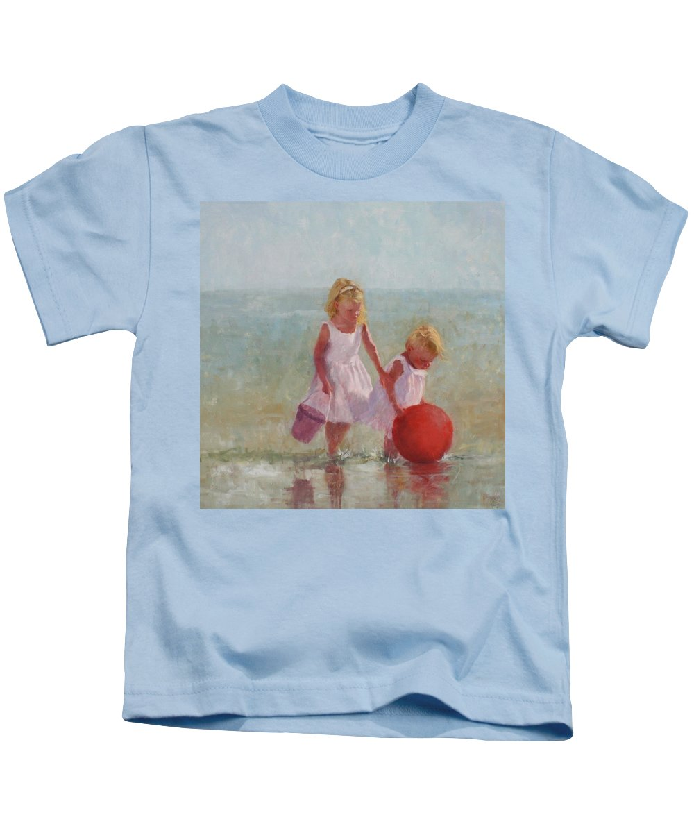 Children Kids T-Shirt featuring the painting Big Red by Hope Reis