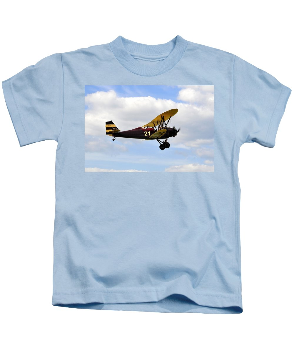 Biplane Kids T-Shirt featuring the photograph Biplane by David Lee Thompson