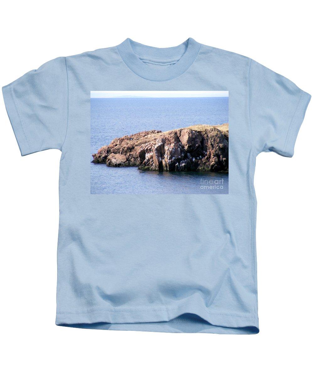 Bird Rock Kids T-Shirt featuring the photograph Bird Rock by Barbara Griffin