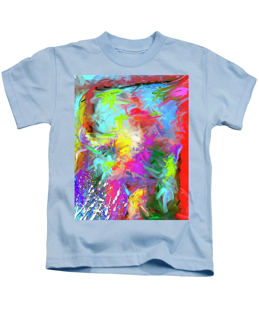Abstract Kids T-Shirt featuring the painting Birth Of Venus by Snake Jagger